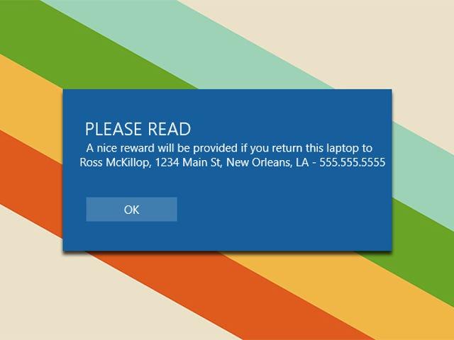 İletişim Bilgilerinizle Windows 10 Giriş Ekranına Özel Mesaj Ekleme