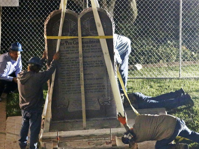 Oklahoma Removes Ten Commandments on Capitol Grounds, Which Sadly Also Means No Satanic Statue