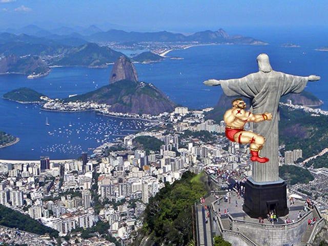 <i>Street Fighter</i> reemplaza la estatua de Jesús gigante con ... ¿Trofeo de fútbol?