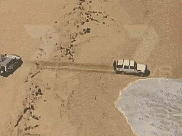 Nghi phạm rực rỡ của Úc cố gắng trốn tránh cảnh sát bằng cách lái xe vào đại dương