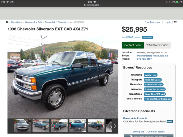 $26,000 for a 17 year old Chevy truck