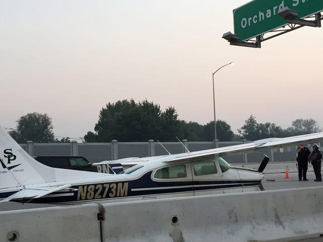 Plane Thinks It Is A Car, Lands On Busy Idaho Freeway During Rush Hour