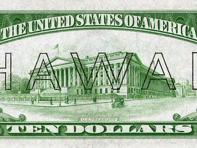 The US Issued Special Banknotes in Case Japan Invaded Hawaii