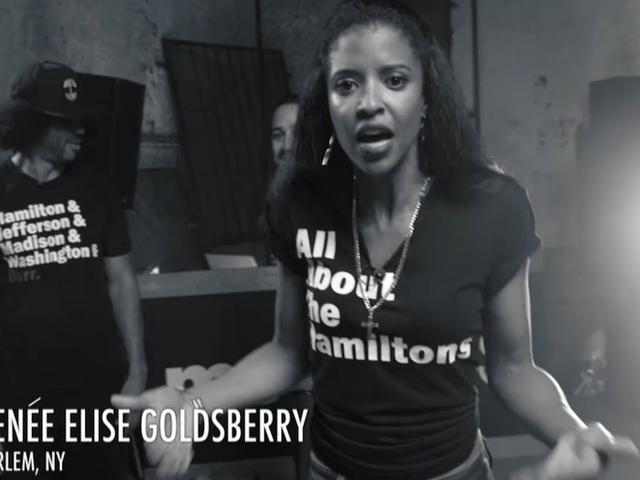 Hamilton Renee Elizabeth Goldsberry Reps Stora kvinnor i historia i BET Freestyle Cypher