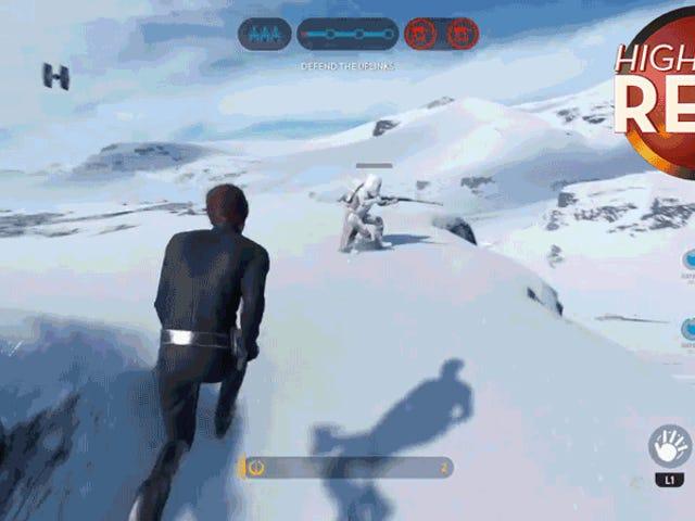 Luke heittää Stormtrooperin TIE Fighteriin