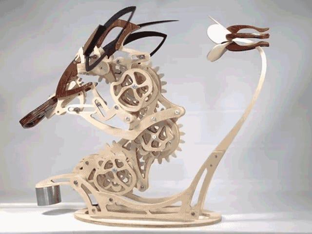 Du har nog inte tillräckligt med tålamod för att bygga denna Kinetic Hummingbird