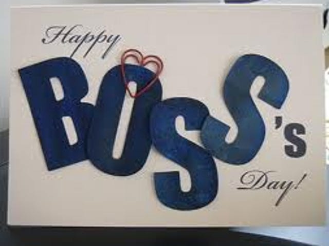 Today Is National Boss Day: Here's How To Do It