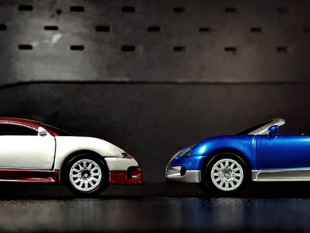 A pair of fast cars