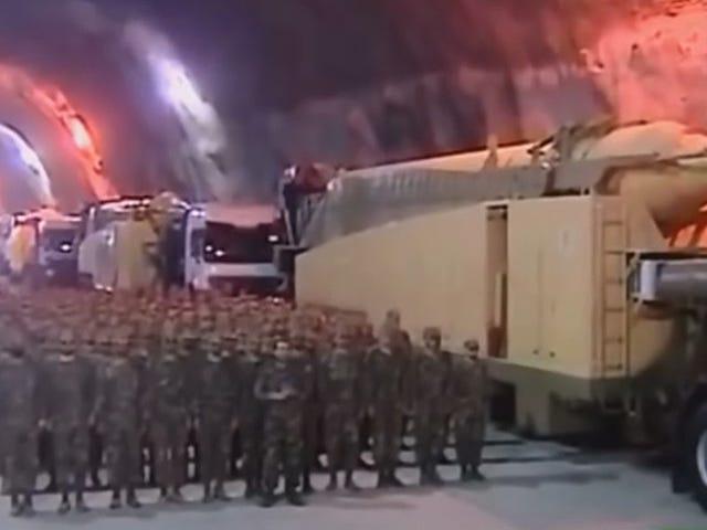อิหร่านโชว์ถ้ำขีปนาวุธนำวิถีในช่องทีวีของรัฐที่หายาก