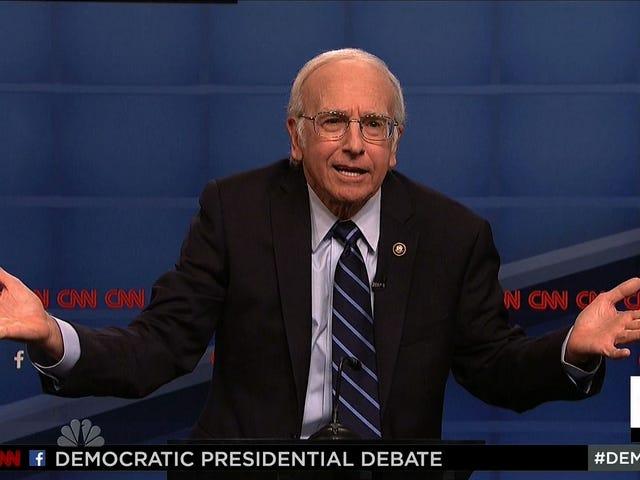 Larry David Kader&#39;i Dolduruyor, <i>SNL</i> Soğuk Açık&#39;ta Bernie Sanders&#39;ı Oynuyor