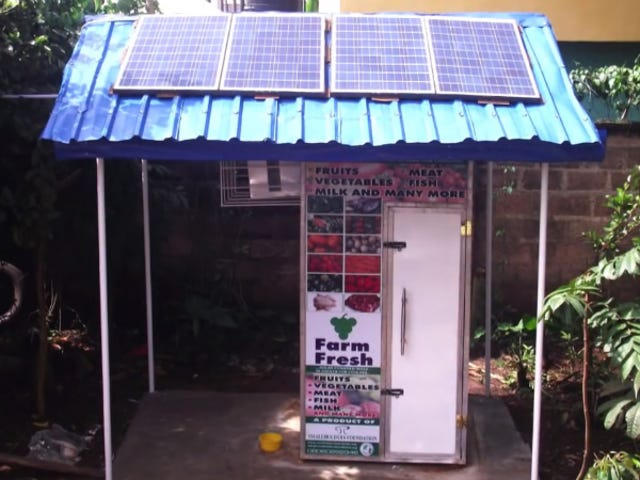 In Nigeria, Solar-Powered Fridges at Outdoor Markets Save Food From Spoiling