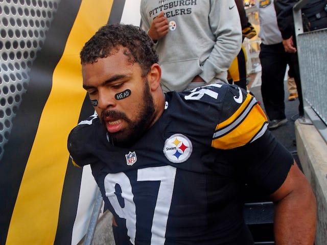 Cam Heyward desafía a la NFL en su ojo negro que tiene conciencia del cáncer