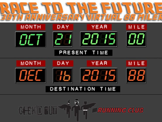 Run or Walk 88 Miles (But Not Per Hour) In The Race To The Future Virtual Run