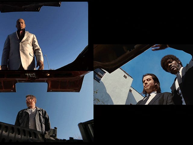 Kesamaan visual samping dari <i>Breaking Bad</i> dan <i>Pulp Fiction</i>
