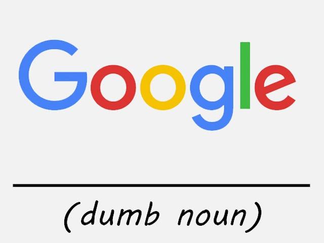 Google Sucks sa Naming Stuff