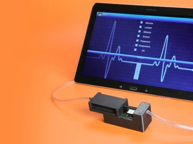 Este dispositivo médico en miniatura mide cinco de los signos vitales de su sangre