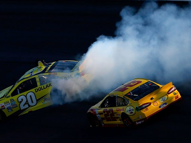 NASCAR's Matt Kenseth Insists Joey Logano Punted Him On Purpose Last Week
