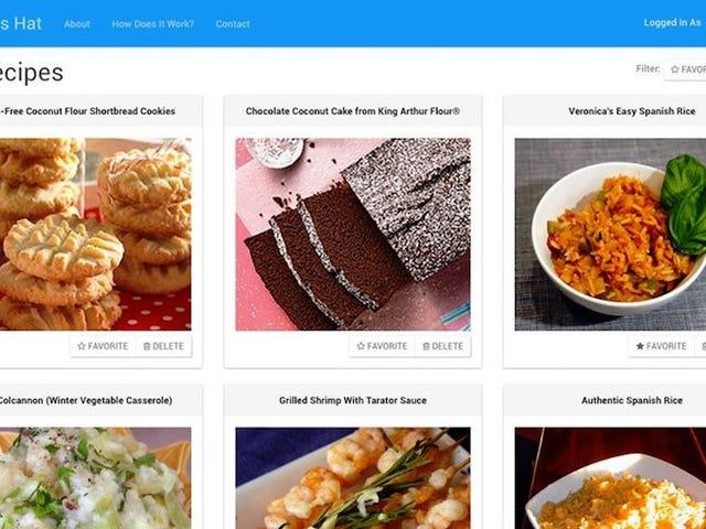Chapéu do Chef permite-lhe marcar e organizar receitas de toda a Web