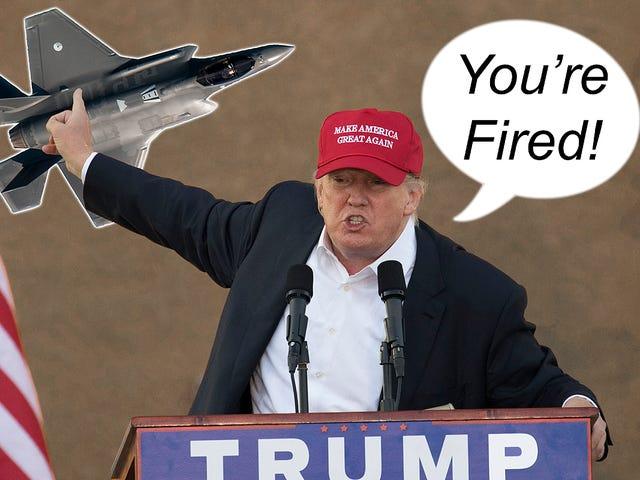 唐纳德特朗普想要解雇F-35联合攻击战斗机