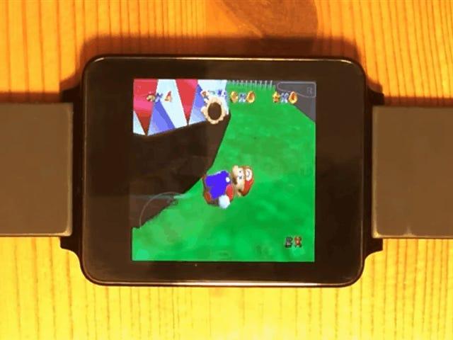 Åh, det er N64-spil, der løber på en ur