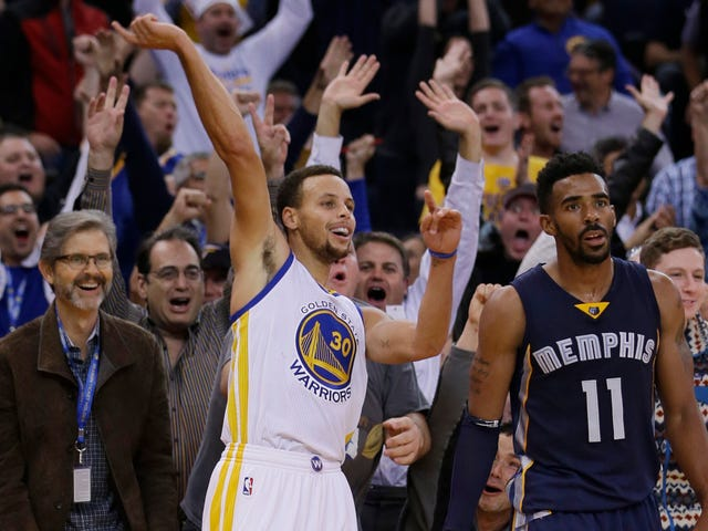 Warriors Top Grizz, 119 To—Wait, I'm Pretty Sure This Is A Video Game Score