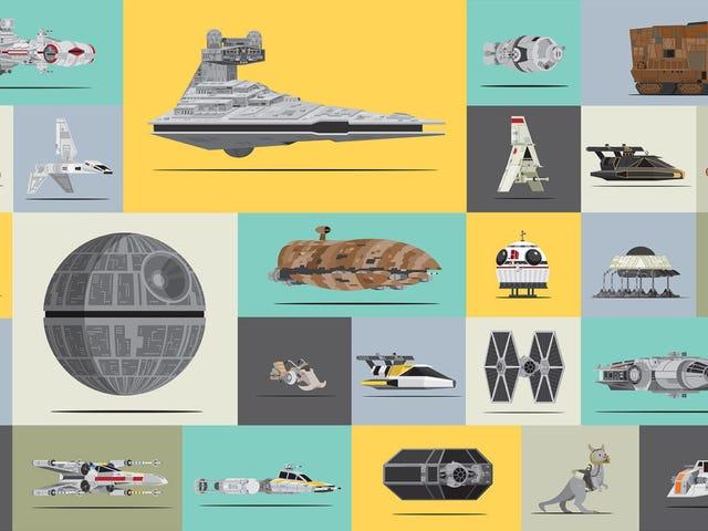 1つのクールなグラフィックの中の<i>Star Wars</i>すべての素晴らしい宇宙船と乗り物