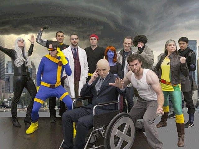 Titta på hur Photoshop magiskt förvandlar Halloween kostymer till de riktiga X-Menna