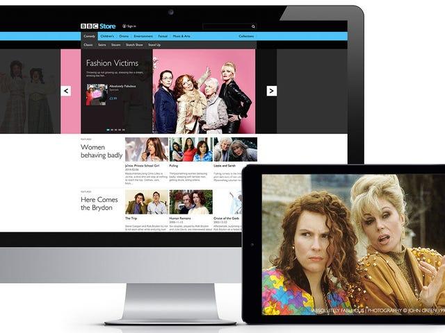 BBC Store kan du købe Classic TV Online-hvis du har et britisk kreditkort