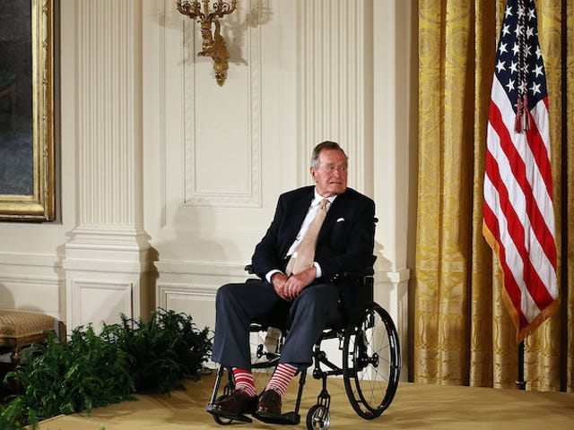 George H.W. Bush Mellows on Marriage Stance: 'People Have a Right to Be Happy'