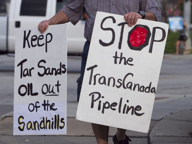 Obama는 Keystone XL 석유 파이프 라인을 거부합니다.