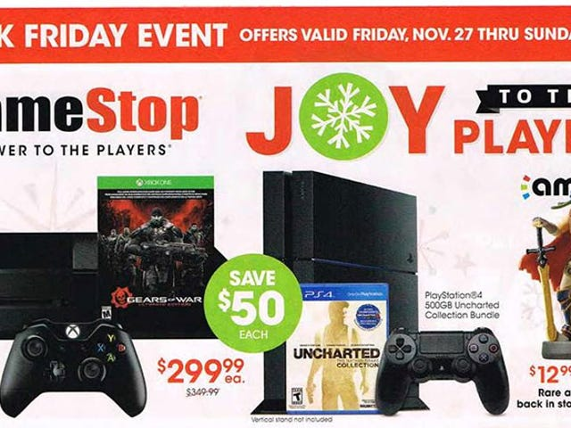 GameStop's 2015 Black Friday Deals Have Leaked, Of Course