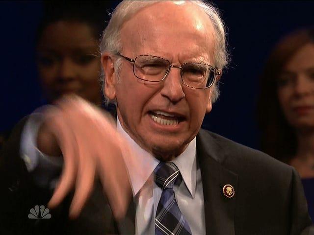 Larry David tekrar <i>SNL</i> Bernie Sanders Oynamak için <i>SNL</i> yapar