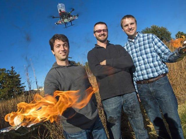 Oh Crap, niektórzy kolesie wymyślili dron rzucający płomień