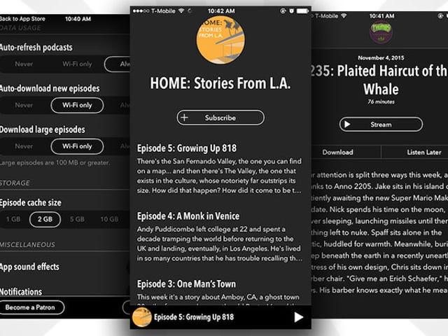 Castro, Pengurus iOS Podcast Yang Paling Mudah, Menambah IOS 9 Ciri-ciri dan Goes Percuma