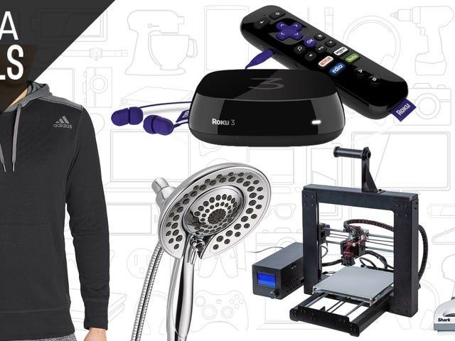 Dagens bästa erbjudanden: Duschhuvuden, Adidas Gear, Voice-Controlled Roku och More
