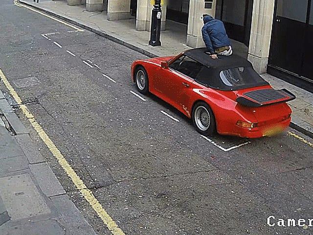 Xem Asswipe này hoàn toàn thất bại trong việc đánh cắp một chiếc Porsche Cabriolet
