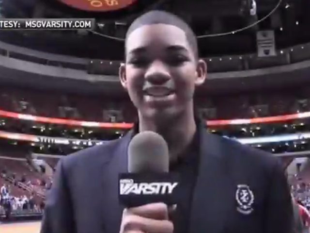 "Watch High School Freshman Karl-Anthony Towns InterviewKevin Durant,His ""Basketball Idol"""
