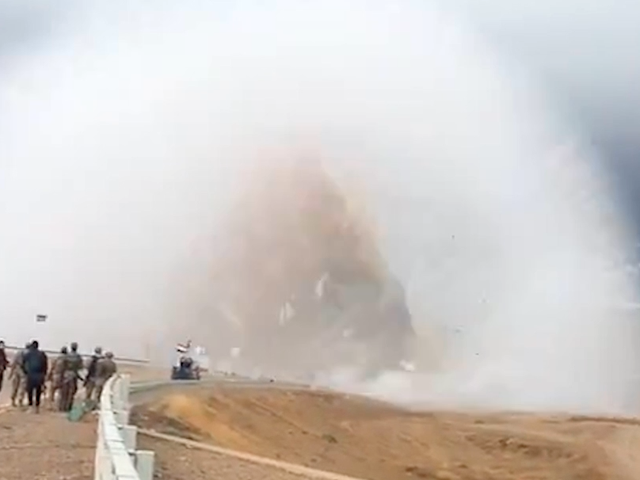 Terrifying car bomb shockwave caught on video
