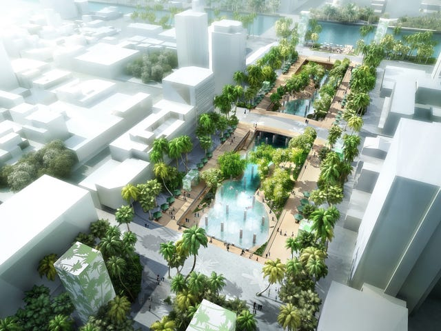 A City In Taiwan Is Demolishing an Old Mall and Turning Its Parking Lot Into a Lagoon