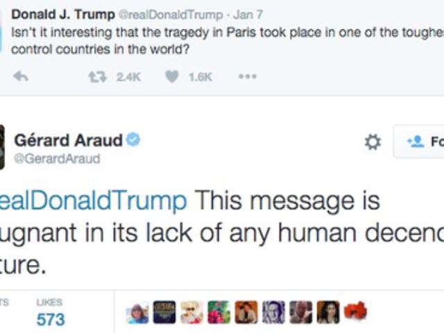 French Ambassador replies to Donald Trump