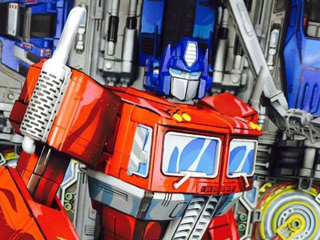 Custom Transformers Devastation Optimus Prime Figure Imitates Art