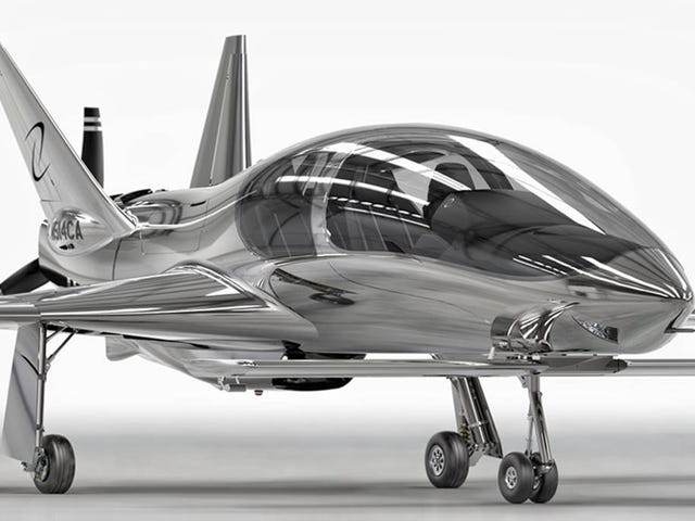 Cobalt's Valkyrie Pusher Prop Private Plane Looks Like It Belongs In The Batcave