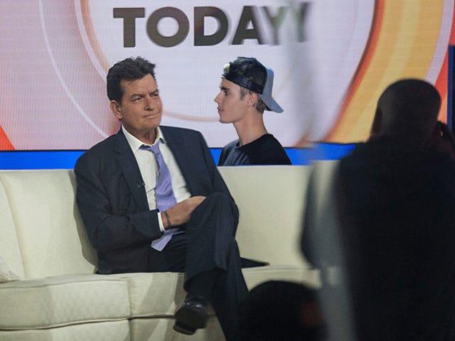 Justin Bieber supuestamente &#39;solicitó un vestidor lejos de Charlie&#39; esta mañana en la <i>Today</i>