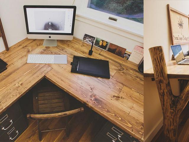 Workspace Wood Reclaimed Wood