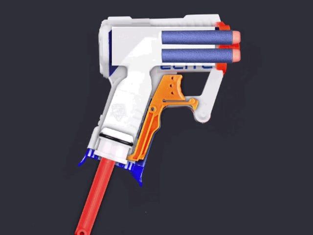 Cómo funciona el ingenioso mecanismo de las pistolas de aire de juguete, en un GIF