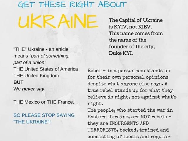 Ukraine, in English language and popular consciousness