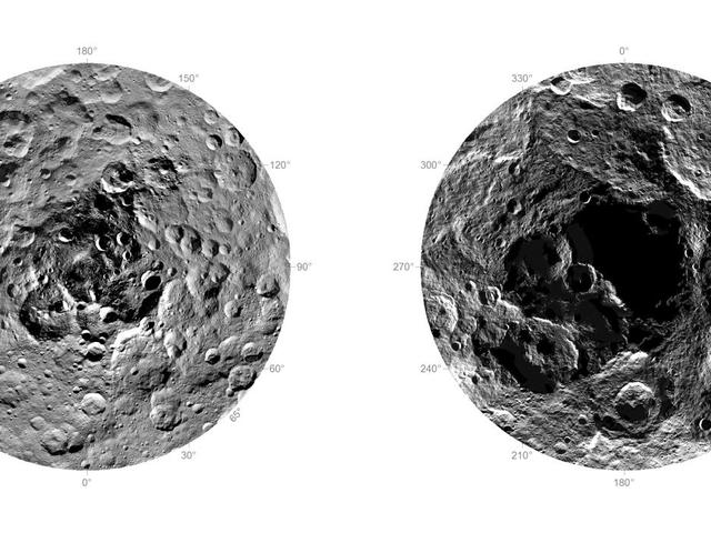 Hier is onze eerste ooit naar de noord- en zuidpool van Ceres