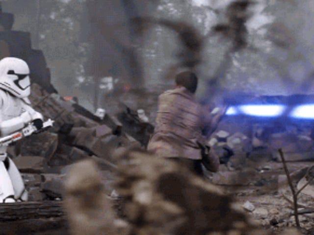 Esquadrão Vermelho e Esquadrão Azul Leva a <i>Force Awakens</i> Poe Dameron na Última <i>Force Awakens</i> Ponto da TV