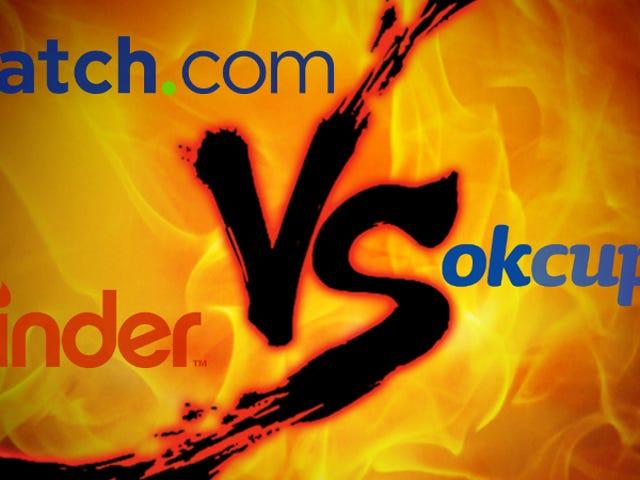 Online Dating Showdown: Match.com vs. Tinder vs. OkCupid