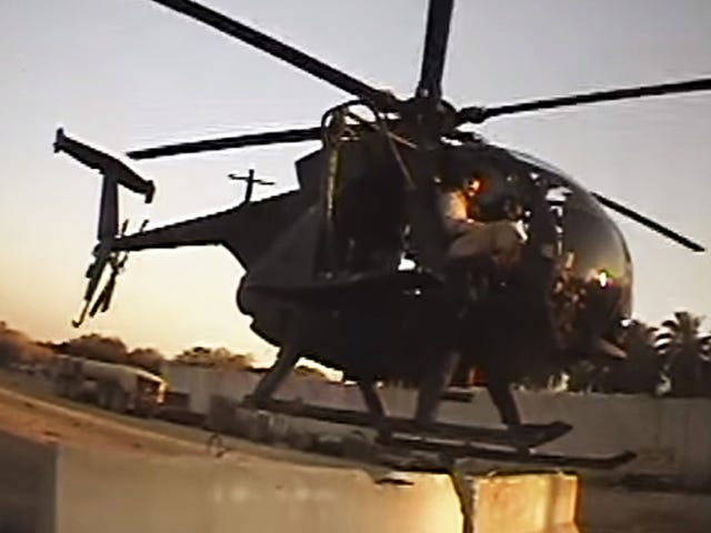Watch This Night Stalker MH-6 Little Bird Land On A Tiny Concrete Barrier